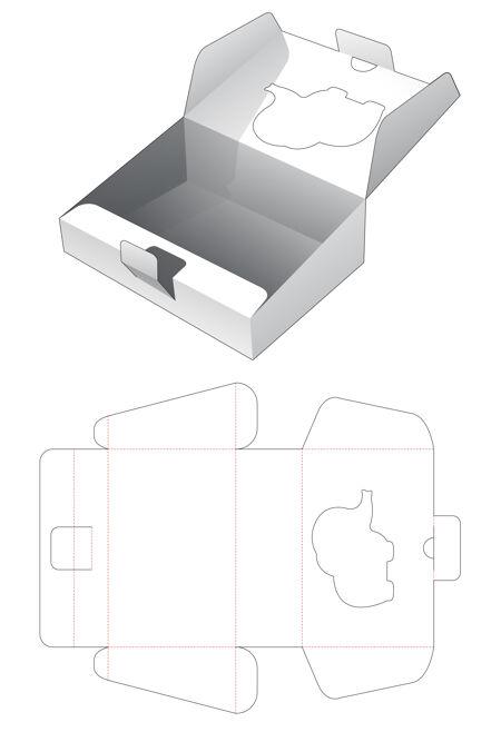 纸板倾斜翻转框大象形窗口削减模板