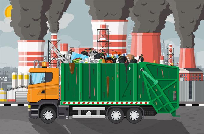 工厂的垃圾排放