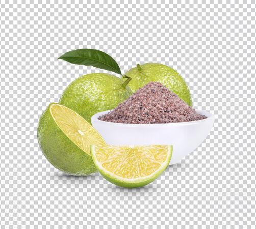 柠檬和黑喜马拉雅盐隔离