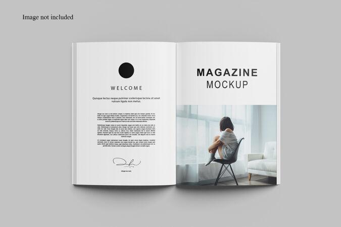 打开杂志模型设计隔离