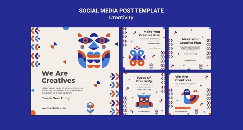 创意概念社交媒体帖子