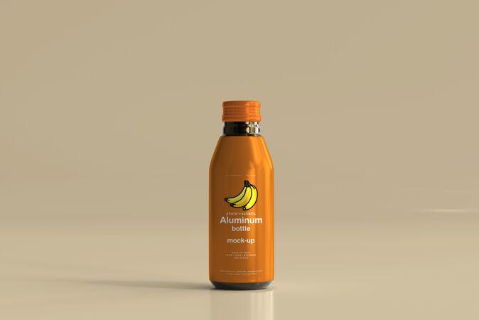 铝制饮料瓶模型